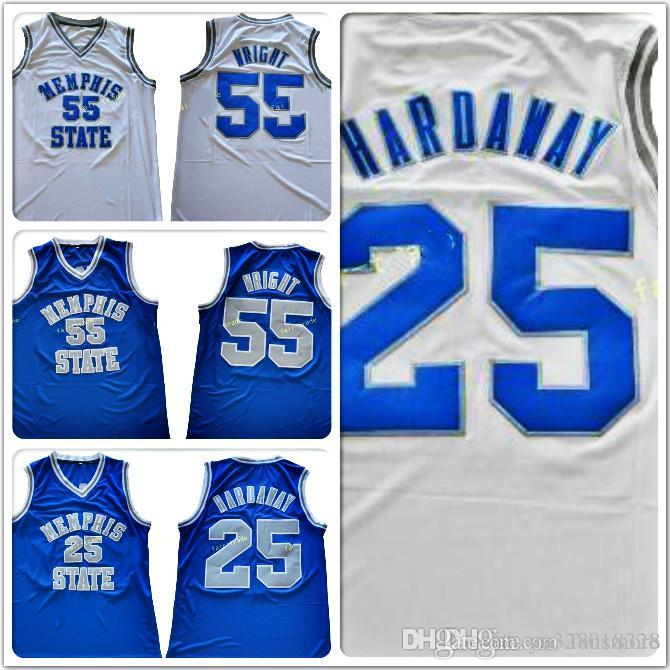 f6d1157d100 2019 Men NCAA Memphis State Tigers  25 Penny Hardaway Jerseys Stitched 55  Lorenzen Wright College Basketball From Yu328018328