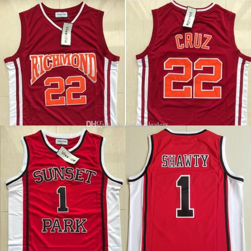 c77161af389 2019 Sunset Park #1 Shawty Jersey #22 Richmond Timo Cruz Basketball Jersey  Stithed Men Movie Basketball Jersey S 2XL From Fanaticdealers, $20.25 |  DHgate.