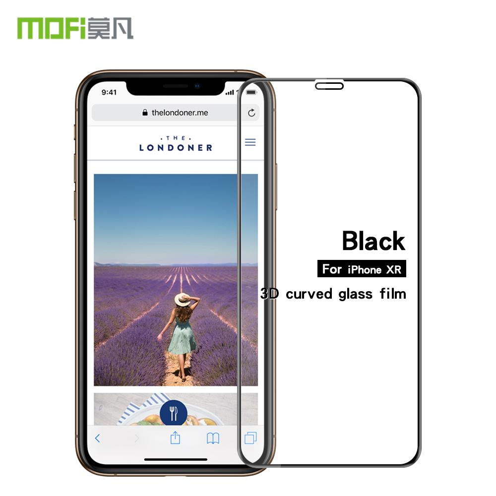 wholesale For iPhone XR Screen Protector Tempered Glass 3D Curved Full Coverage LCD Guard Shockproof For iPhone XR Protective Film