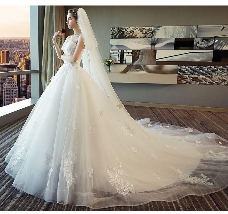 2019 Nouvel arrivage design robe de mariée Dream Princess jupe pour se  marier couleur blanche doux matériel de dentelle top qualité