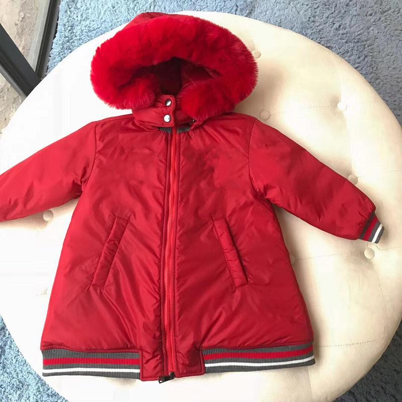 cb5889666 Girls Down Jacket Hooded Red Cute Down Coat Hoodie For Girls Winter ...