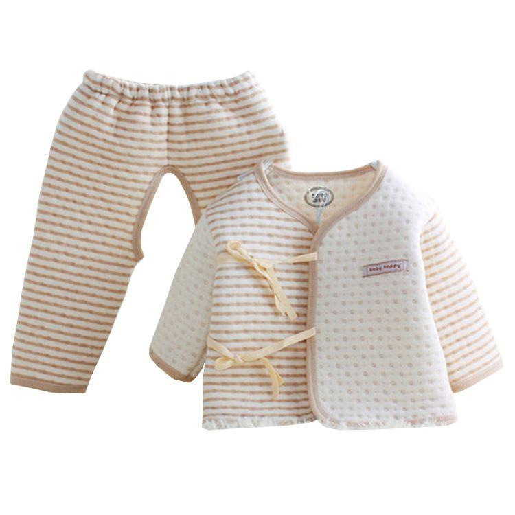 d9728c3f22cd Compre 2019 Bebé Recién Nacido De Color Ropa De Algodón Orgánico Puro  Conjuntos De Bebés Y Bebés Ropa De Niña Pijamas Suaves Y Cálidos Trajes  Para La ...