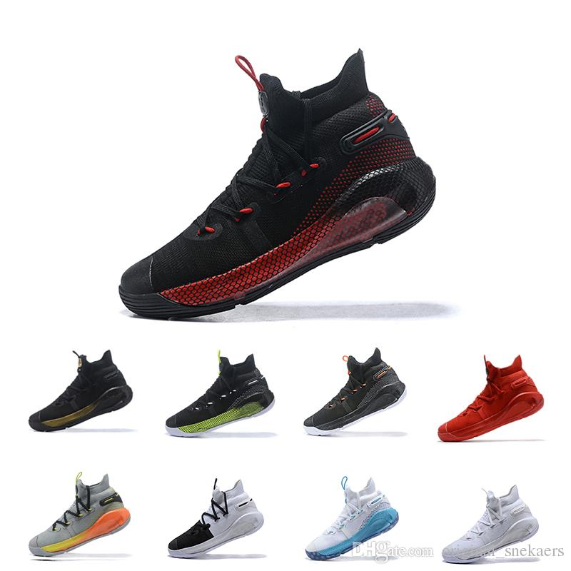 newest 63efb 629ce New Arrival Curry 6 White Black Man Basketball Designer Shoes Cheap  Championship MVP Finals Fashion Red Sport Sneakers Come With Box