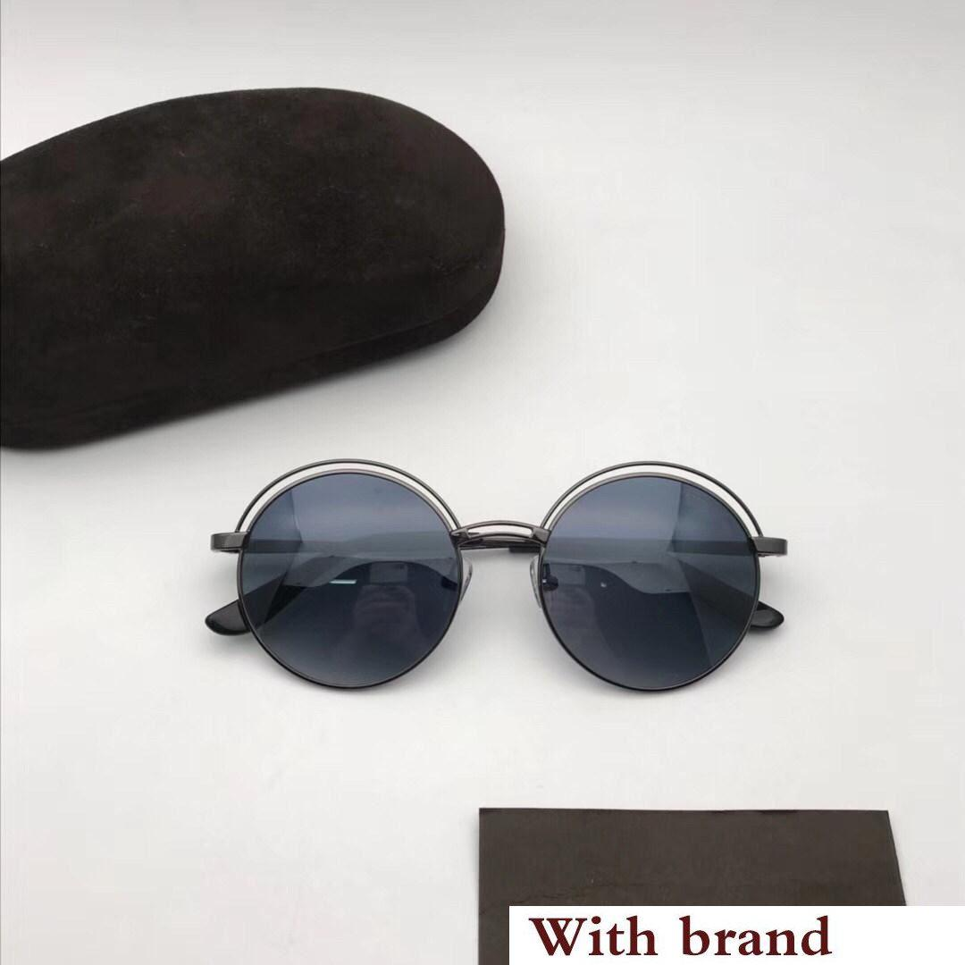 0643 Sunglasses For Women Round Designer Fashion Popular Retro Style UV Protection Lens Round Frame Top Quality Free Come With Case