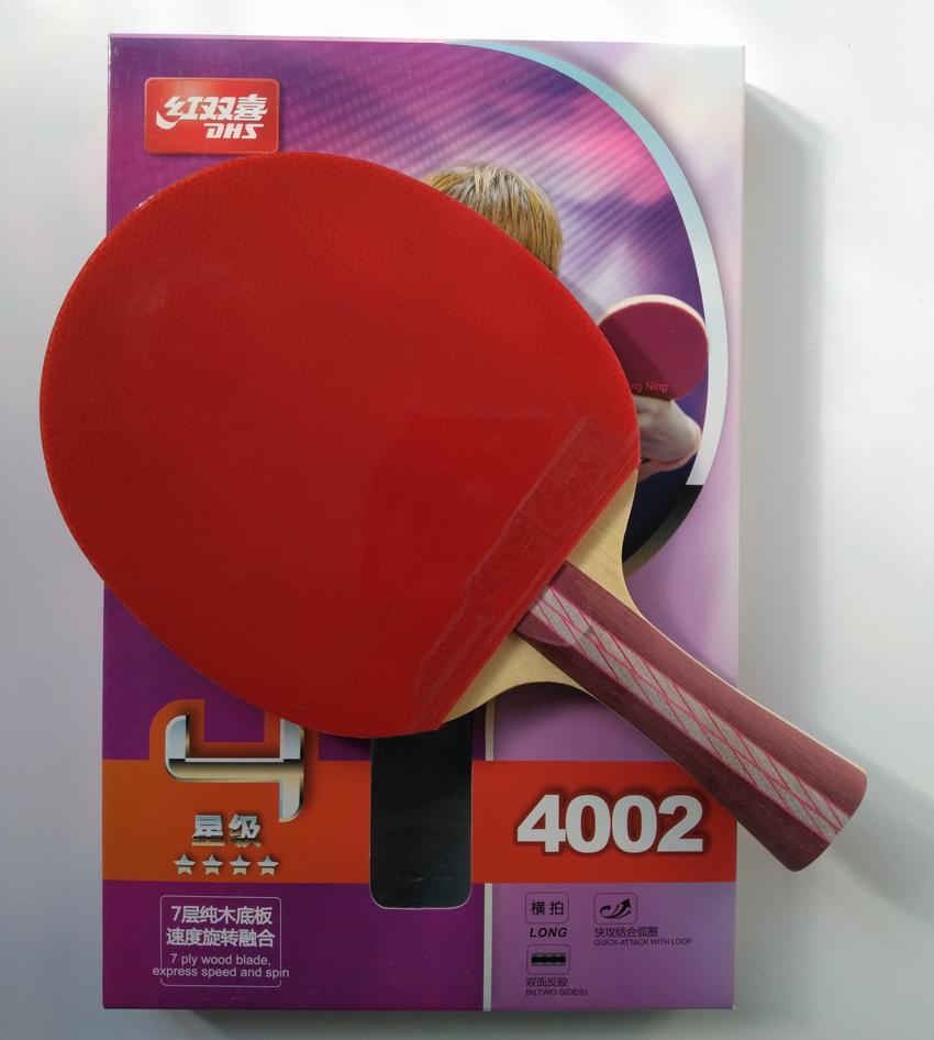 2be315115 Compre Original DHS 4002 4006 Raquete De Tênis De Mesa Com 4 Estrelas  Espinhas Em Borrachas Rápido Ataque Loop DHS Esportes De Raquete Ping Pong  Pás ...