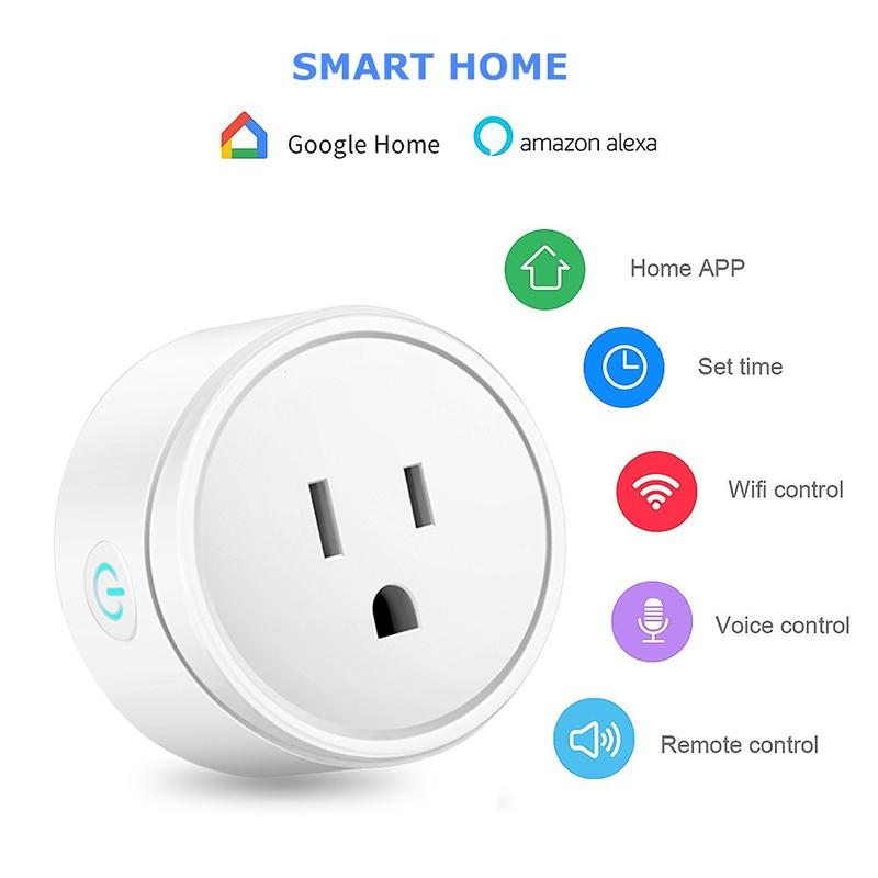 Smart Plug WiFi Remote Control with Alexa Timing on/off Power Smart Google Home Electric Mini Socket