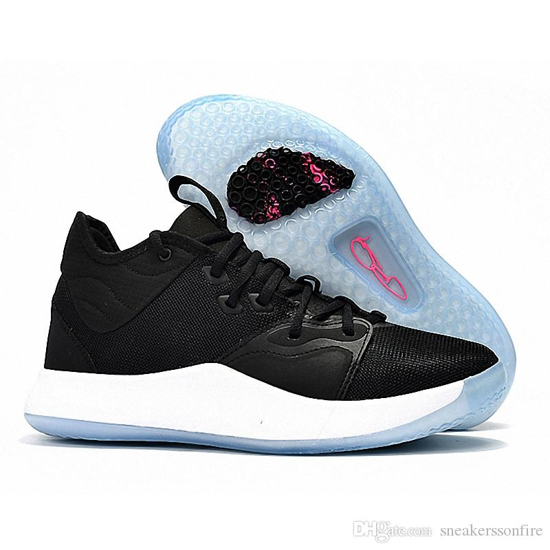 ef4daf4c582ffa 2019 2019 New Paul George Pg 3 Black White For Cheap Mens Basketball