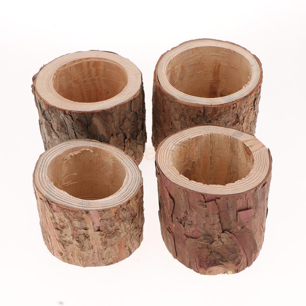 Acheter Tronc D Arbre Rustique Vase 192 Fleur En Bois Plantes Succulentes Bonsa 239 Bougeoir Lumi 232 Re