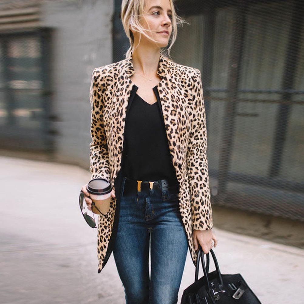 Compre Moda Para Mujer Dama Moda Chaleco Largo Ropa De Abrigo Fresca Abrigo  De Manga Larga Traje Leopardo Tallas Grandes Tops A  24.66 Del Yingluo  2c517ad4a19b
