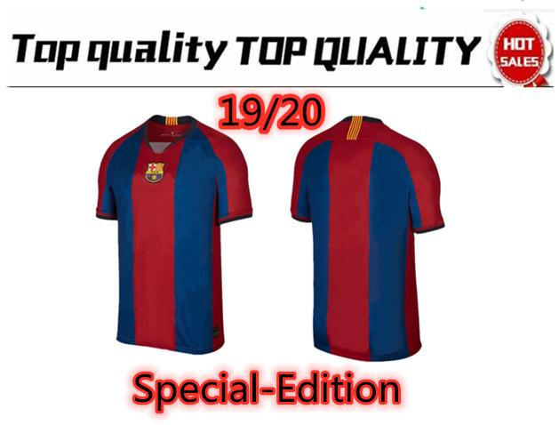brand new 9e034 6f810 Top Quality Special-Edition Barcelona El Clasico Kit Soccer Jersey Football  Jersey