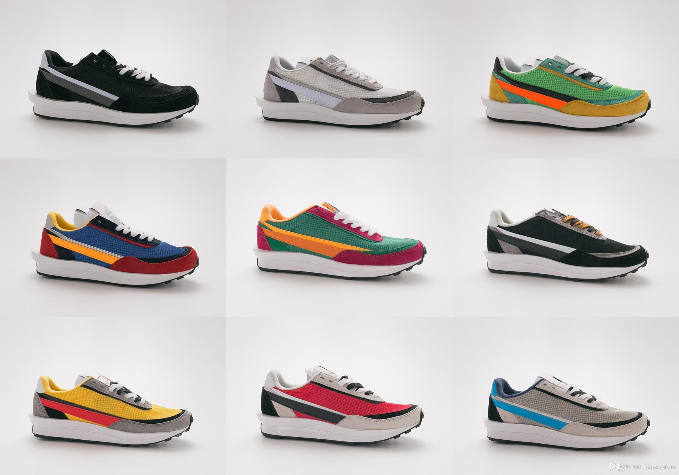 New designer Sneakers Sacai LDV Waffle Daybreak Trainers Mens For Women fashion Breathe Tripe S Sports Running Shoes Size 36-45 With Box