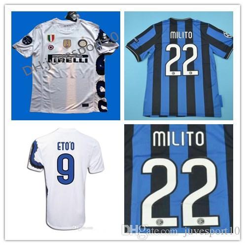 hot sale online e8920 36e58 2009 2010 Inter J.Zanetti Milito Retro Soccer Jersey 09-10-11 Sneijder  Milano Classic MAGLIA Calcio ICARD Maillot Vintage football jersey
