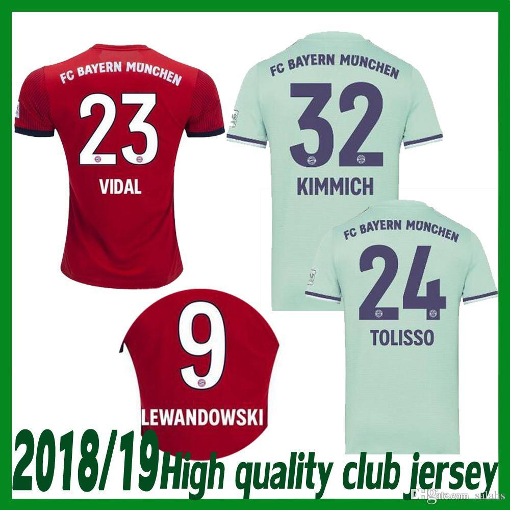 newest a1861 01f03 Bayern Munich JAMES RODRIGUEZ Soccer jersey 2018 2019 LEWANDOWSKI MULLER  KIMMICH jersey bayern jerseys Football shirt