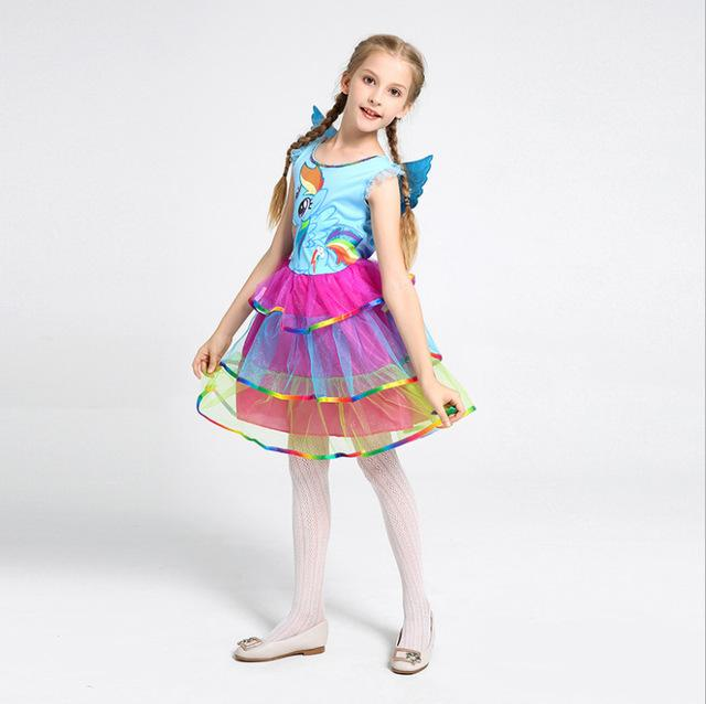 48c8947e 2019 Cosplay Set Print Rainbow Unicorn Sequined Sleeveless Princess Dress+Headwear  Party Halloween Carnival Easter Ball Gown Costume From Bradle, ...