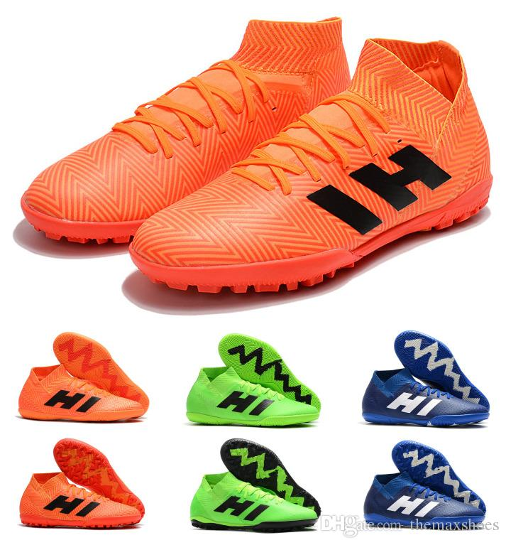 2019 Hot Nemeziz Tango 18.3 TF IC Lionel Messi Indoor Turf High Ankle 18 New  Arrival Mens Soccer Shoes Football Boots Cleats Size 6.5 11 From  Themaxshoes ae7f4f69f67