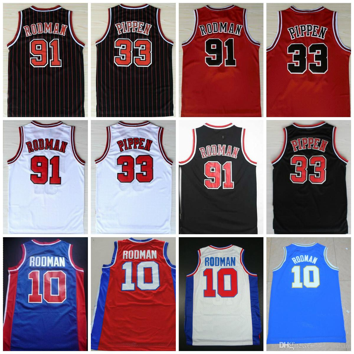 finest selection 86bc2 fac02 Oklahoma Savages #91 Dennis Rodman Jersey #33 Scottie Pippen Jerseys The  Worm 10 Dennis Rodman Mens Stitched Red White Black Shirts S-XXXL
