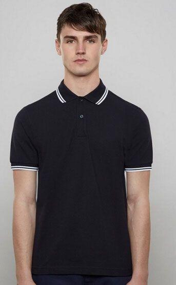 Alışveriş Londra Brit Erkekler Katı Polo Gömlek Ile Yaprak Pamuk Kısa Kollu Çizgili Yaka Spor Polos İngiltere Gömlek Beyaz Siyah