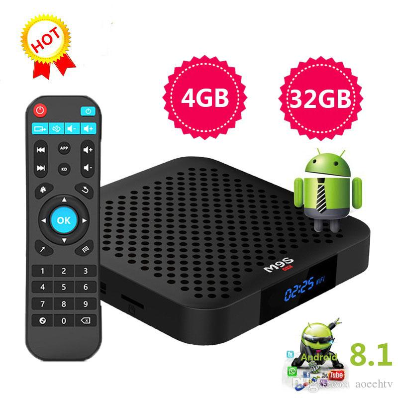 High Quality android tv box M9S J2 4GB 32GB Rockchip RK3328 IPTV tv box  support BT4 0 2 4G WiFi USB3 0 4K Ultra HD 3D 4K Better X88 A95X MAX