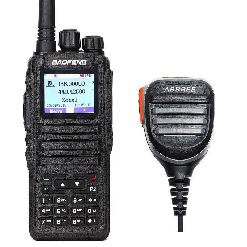 BaoFeng DM-1701 Walkie Talkie Dual Time Slot DMR Digital/Analog DMR SMS  Compatible Ham DM-XS Radio 780 Speaker MIC