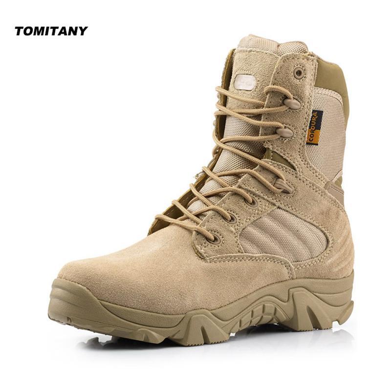 28b9b8de152 Outdoor Hiking Shoes Mens Professional Climbing Trekking Camping Hunting  Shoe Man Waterproof Military Tactical Boots Men