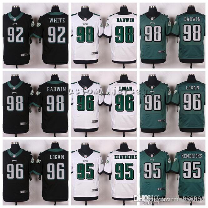 2019 Philadelphia Eagles  98 Connor Barwin 96 Bennie Logan 95 Mychal  Kendricks 93 Mike Martin 92 Reggie White Elite Football Jerseys From  Hoodiesno5 d9a3071fc