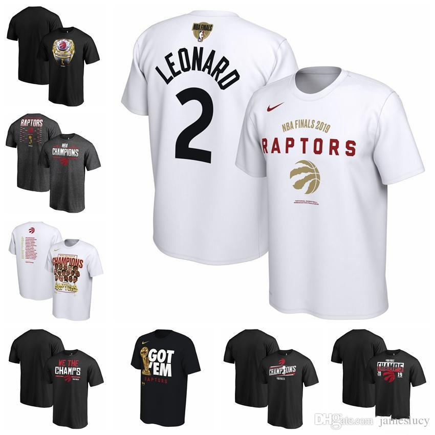 Toronto TOR Raptors 2019 HOT jersey Finals Champions Celebration Roster  Performance Basketball T-Shirt White and Black