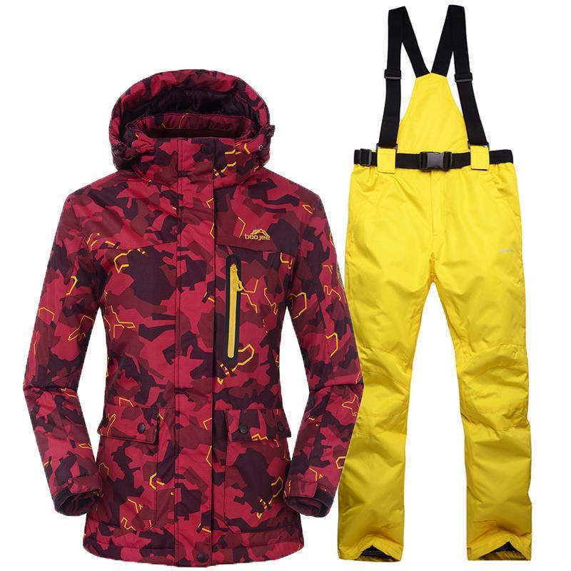 853188da7 Snowboarding Sets Women Skiing Suits Jackets Pants Women Winter ...