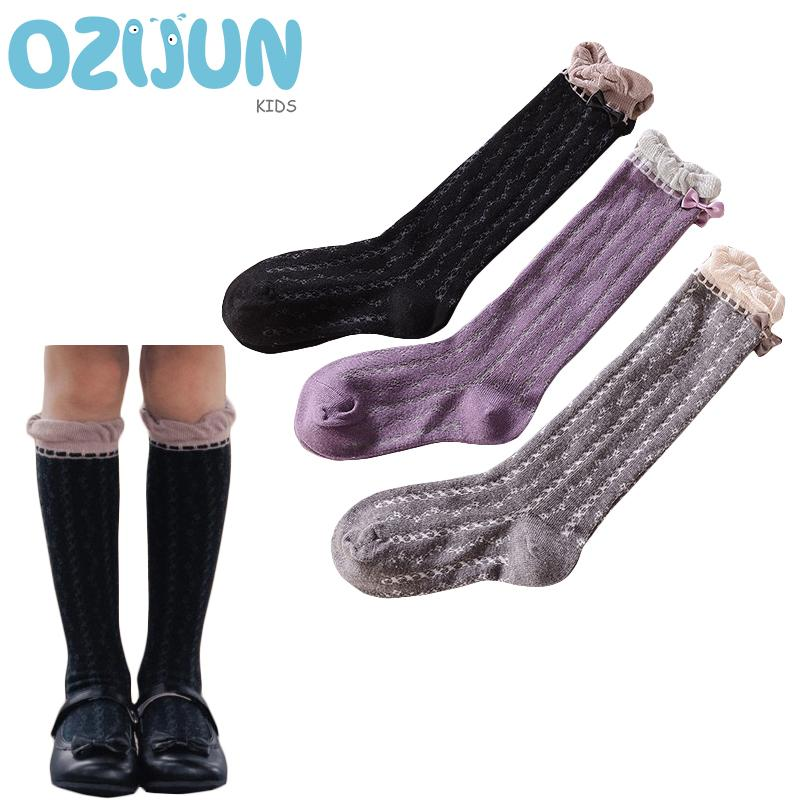 75809a81918 New Arrivals Children Knee High Socks Lovely Heart Pattern Baby Girls Bow Knee  Socks Cotton Lace Loose Top M L Cool Tube Socks The Sock Guys From Callshe