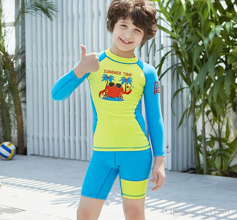 a008abd1ca 2019 2019 Kids Swimwear Quick Dry Two Pieces Swim Suits For Girls ...