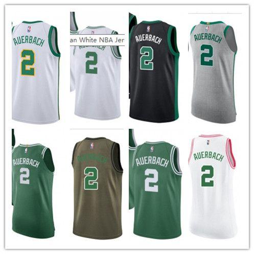 SPORT Basketball Wear Youth women Men s Boston Celtic 2 Red Auerbach ... fba2df7e2
