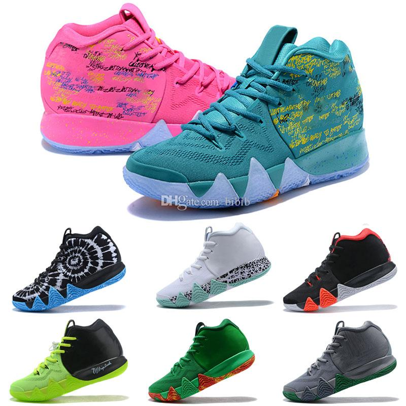 uk availability 3d4a8 4a8ae 2019 New Wholesale Confetti kids shoes cheap sale Top Quality Kyrie Irving  4 men women Kids Basketball shoes