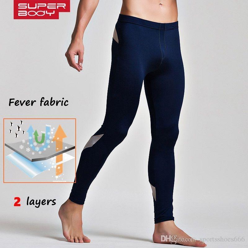 a15b9d2f56 Leggings Sport Fitness Men Warm Running Pants Fine Velvet Home Pants  Jogging Homme Legging Basketball Tights Gym Elasticity #287832