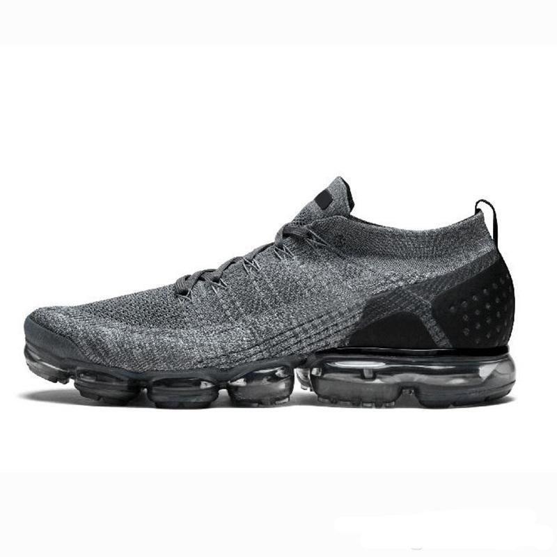 Nike Air VaporMax max Off white Flyknit UtilitCon Caja 2019 Blanco Plata Negro Zapatos Hombres Mujeres Para Correr Zapato Masculino Deporte Choques