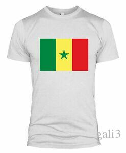 Senegal Flag T Shirt Country National Football Team Kit World Cup Men Women L254