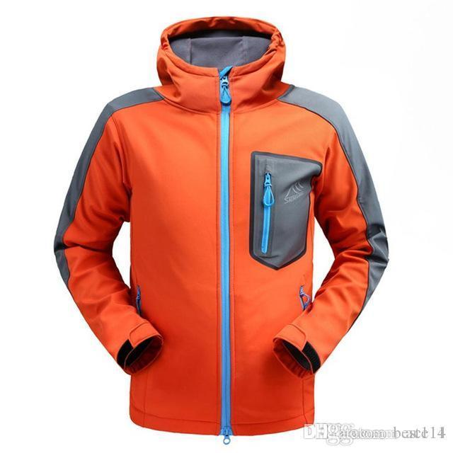 69c7bb607 Wholeslae Waterproof Softshell Jacket Men's Windbreaker Breathable Fleece  Warm Rain Coat Fishing Windstopper Outdoor Camping jacket