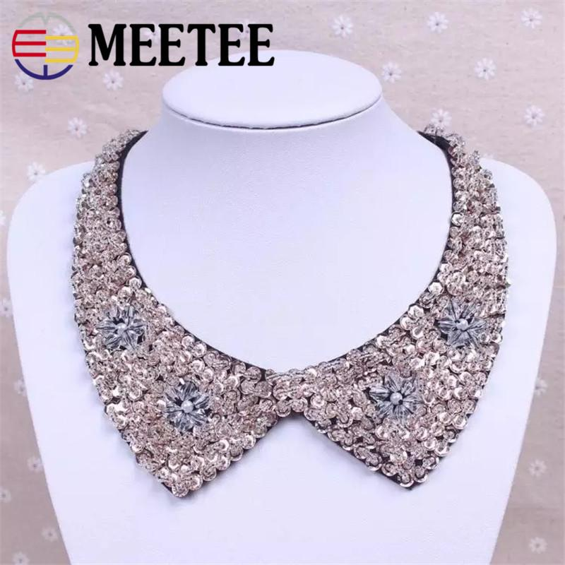 2019 Korean Version Of The Rhinestone False Collar Ladies Retro Lace Collar  Pearl Decoration Sweet Clothes DIY Accessories ZK766 From Qingtongzhi 9ae75d2a9292