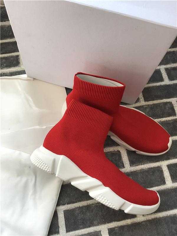 Designer Speed Trainer Luxury Knited Shoes Women Mens Casual Shoes Black White Red Flat Fashion Speed Knit Socks Sneakers Fashion Trainers