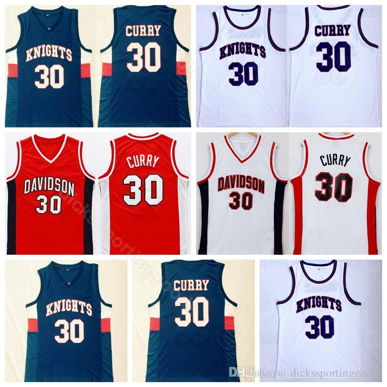 5db32e3f515 2019 College Davidson Wildcats College 30 Stephen Curry Jersey Men  Basketball Charlotte Knights Curry High School Jerseys Red White Blue From  Top_sport_mall ...
