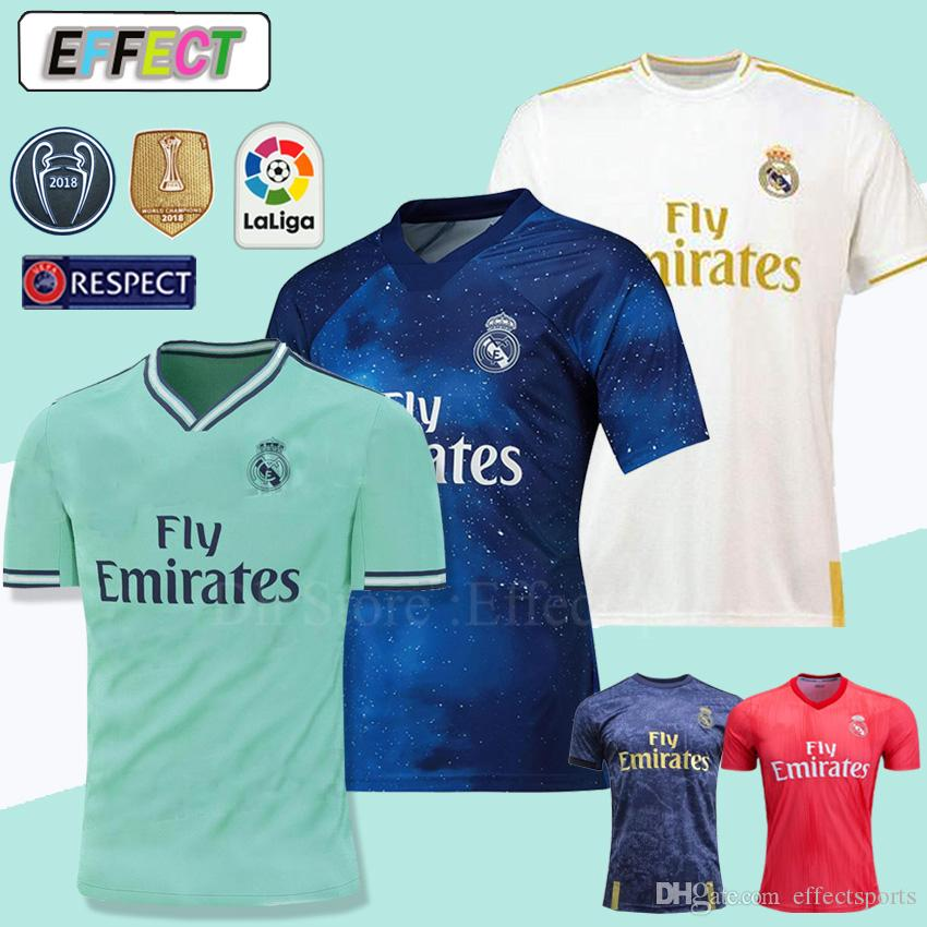 595901e5b8c 2019 New 2019 Real Madrid 4th EA Sports Soccer Jerseys 18 19 20 Home MODRIC  MARCELO 2020 3rd VINICIUS JR KROOS ISCO ASENSIO BALE Football Shirts From  ...
