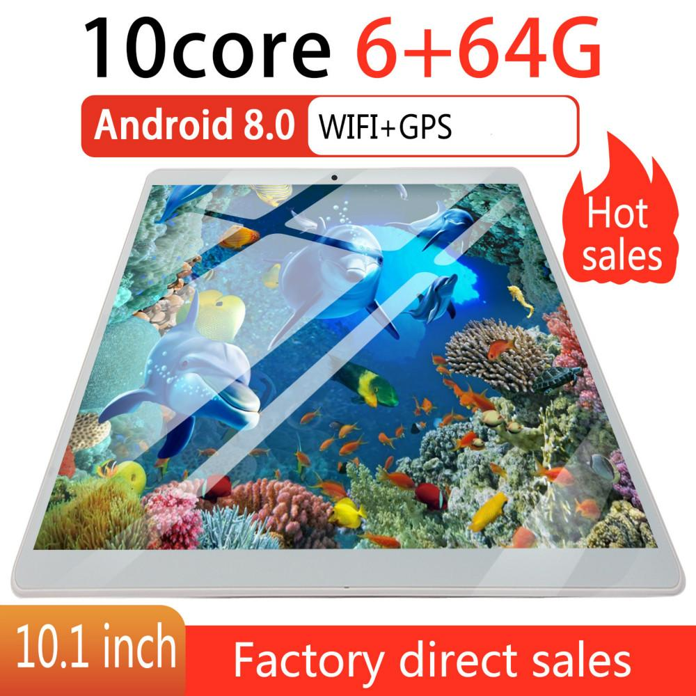 2020 Screen 10 Inch 4G Network WiFi Tablet PC Dual SIM Call Phone Tablet Gifts(RAM 6G+ROM 64G) Gifts Android 8.0