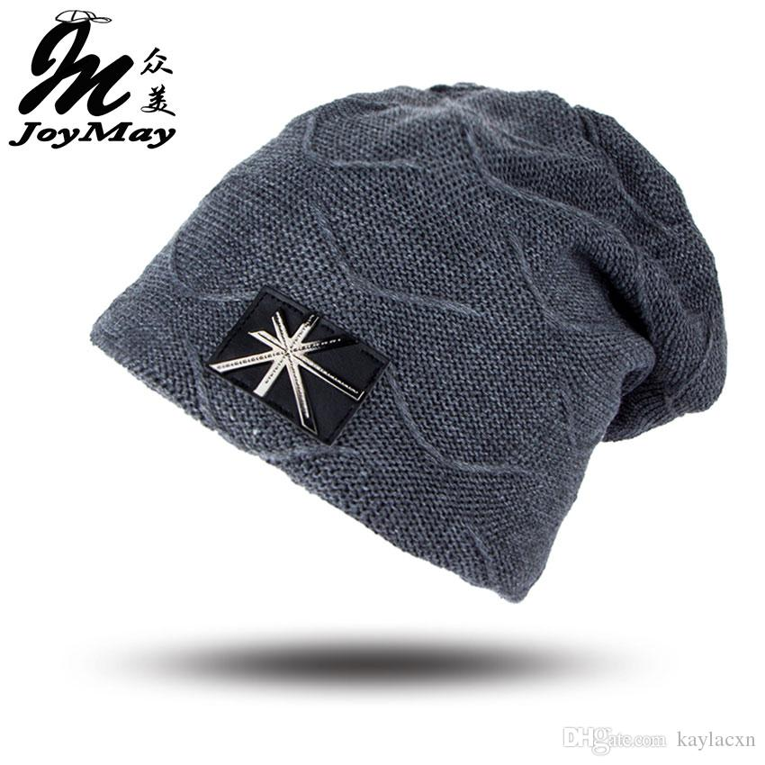 07766254030ec Joymay Brand Winter Beanie New Fashion Men Skull Caps Camping Hats Baggy  Warm Cashmere Hat WM047 Mens Beanies Custom Beanies From Kaylacxn