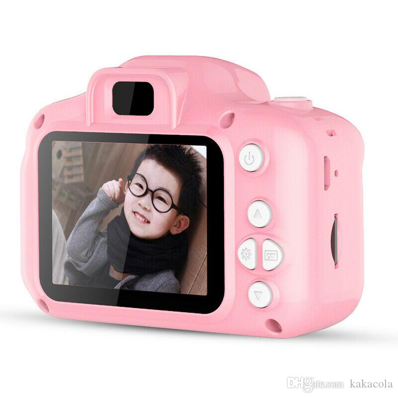 2019 Hot Xmas for Kids Camera Children Mini Digital Camera Cute Cartoon Cam 13MP 8MP SLR Camera Toys for Birthday Gift 2 Inch Screen