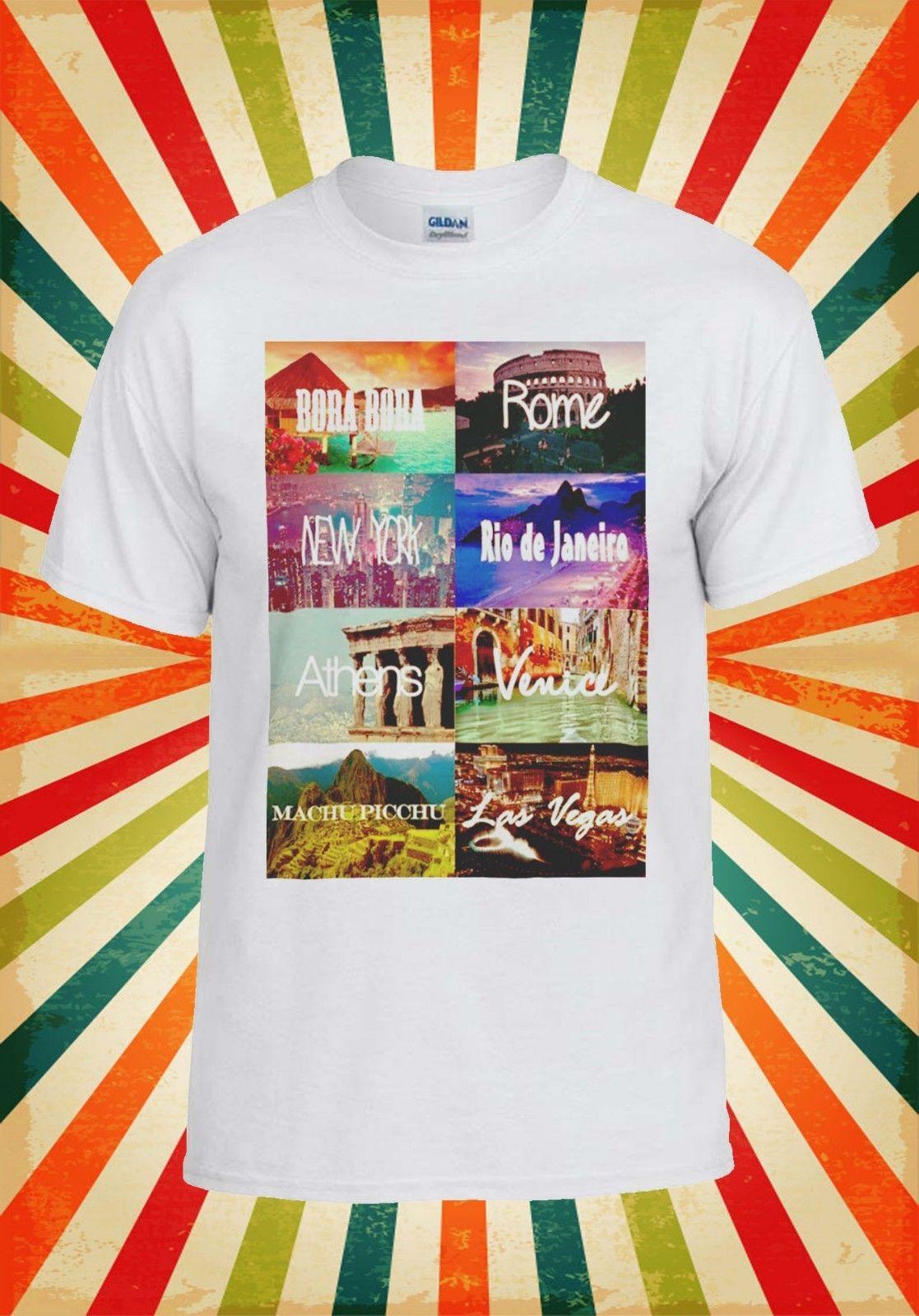 d6a8d2fc New York Las Vegas Venice Rome T Shirt 1044 Funny 100 Cotton T Shirt  Harajuku Summer