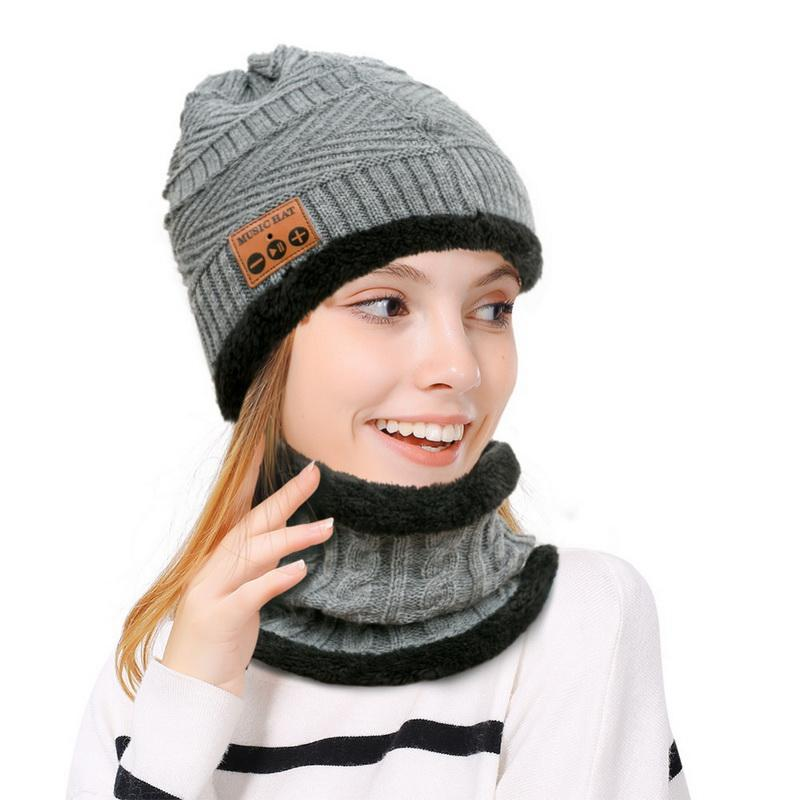 ad6b5e480b720 Men Women Bluetooth Hat Free Wireless Hat Knit Cap Headphone Winter Warm  Warmer Kit Set Scarf Hat   Glove Sets Cheap Scarf Online with  31.84 Set on  ...