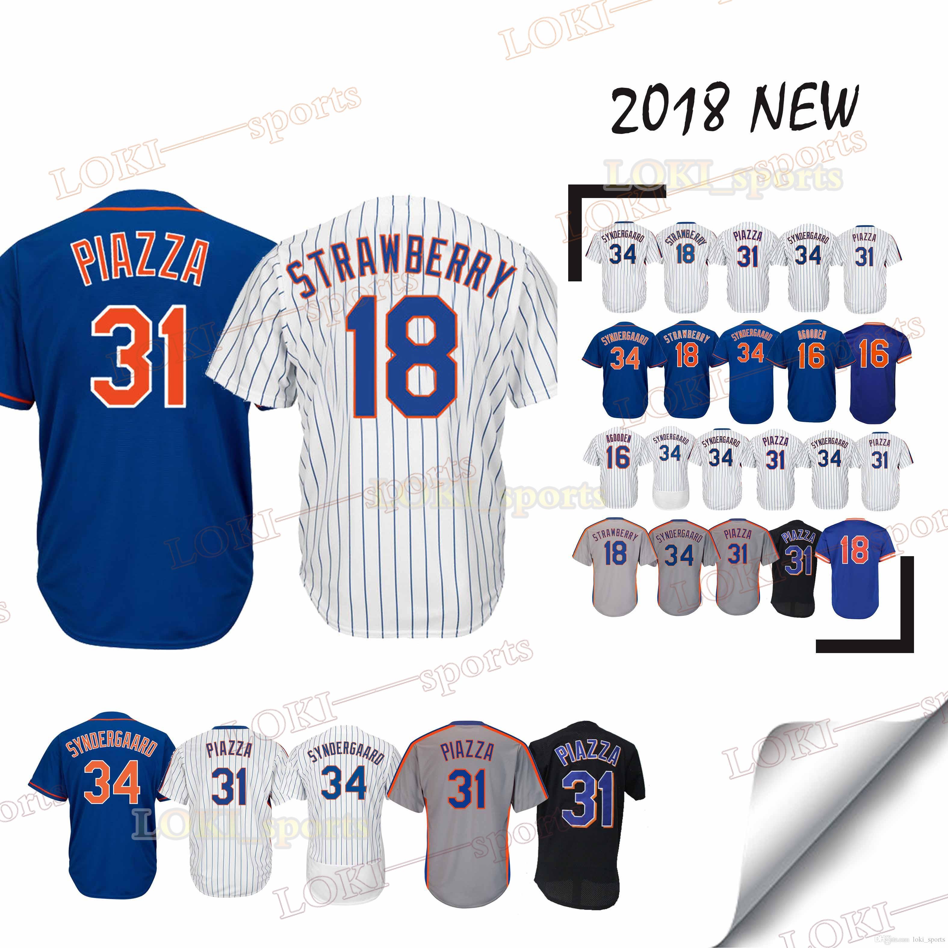 brand new 97c5f 5ff1e New York Mets-Trikots 16 Dwight Gooden 17 Keith Hernandez 2019 Neue, 100%  hochgenähte Top-Oberbekleidung aus Jersey von Jersey
