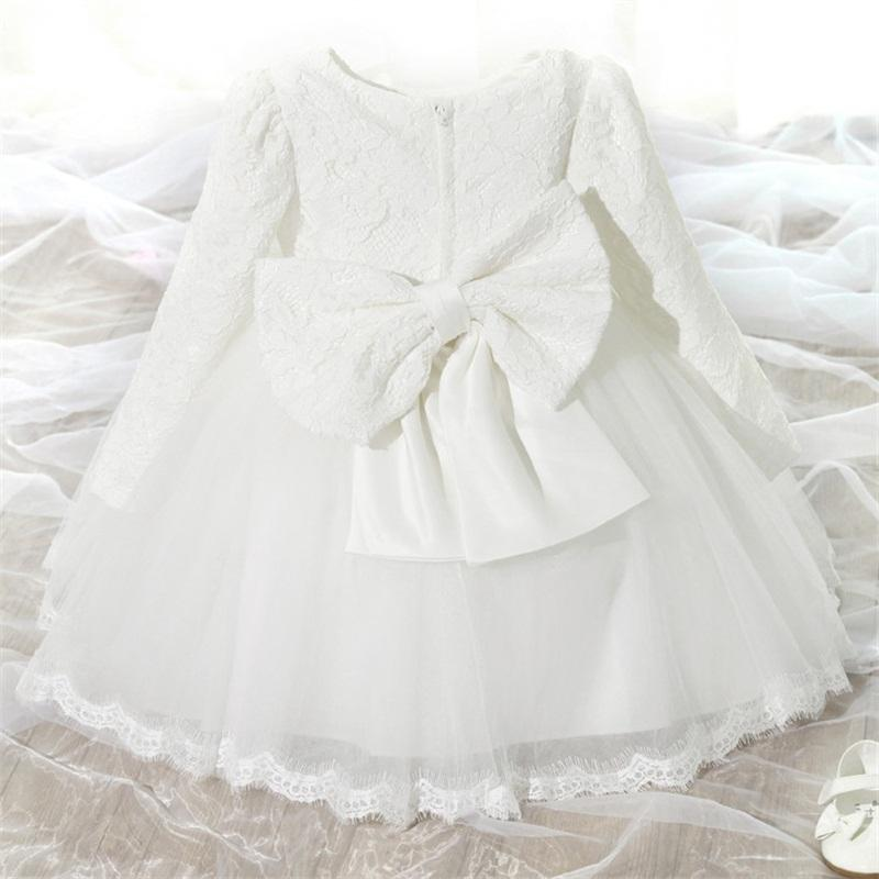 4554e055dc84a My Baby 1st First Birthday Dresses For Girls Christening Baptism Pink  Princess Tutu Formal Dress Ball Gown Toddler Vestido 0 2t