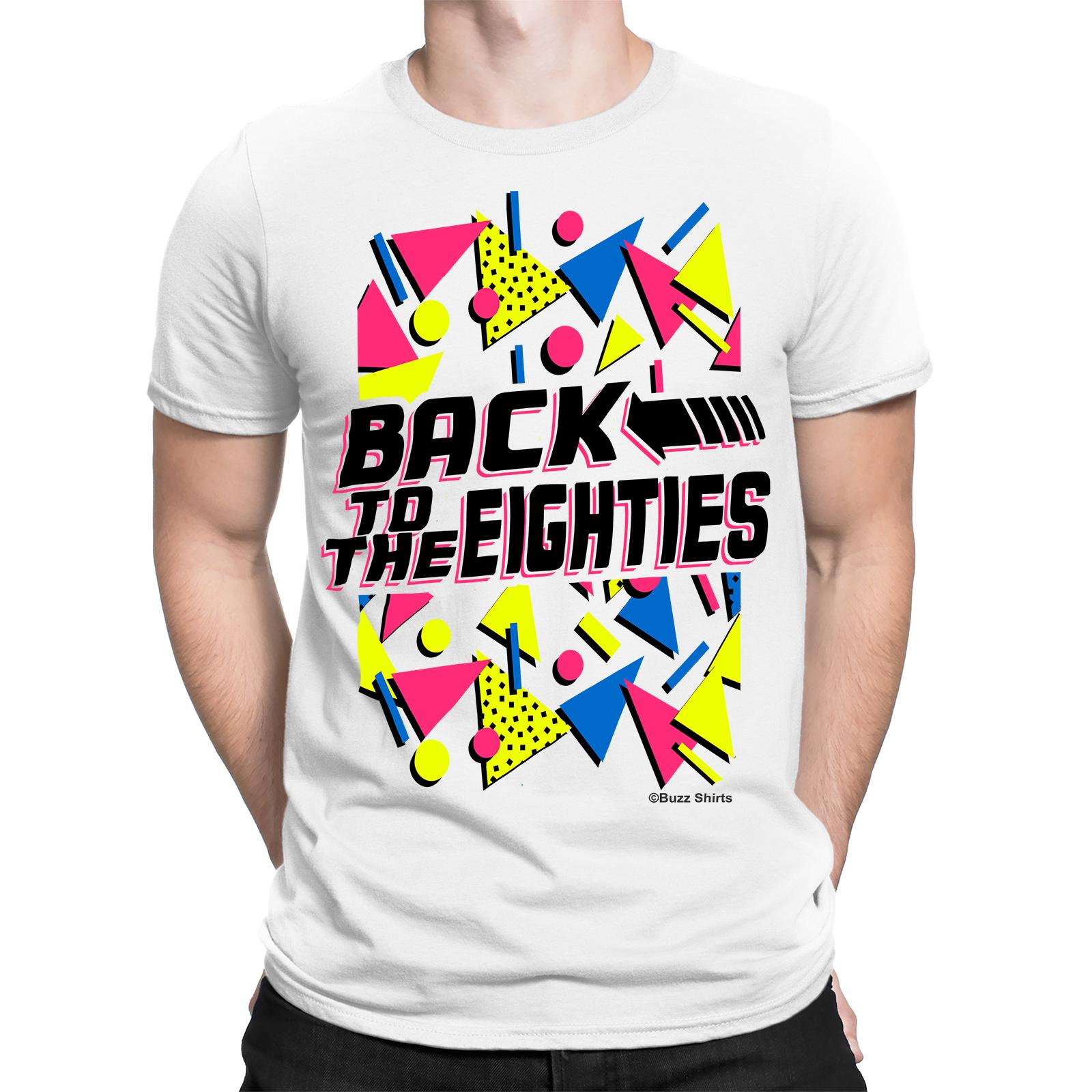 Back To The EIGHTIES Mens T-Shirt FANCY DRESS 80`s Party Weekend STAG Costume Classic Quality High t-shirt