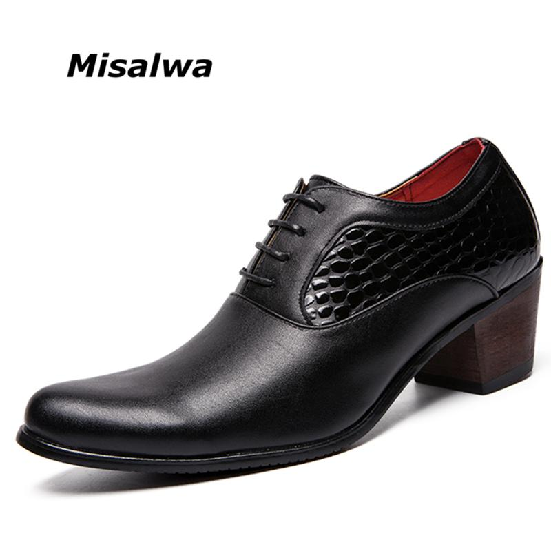 bda47d8cec42e Misalwa New Arrival Height Increasing Men Fashion Pointed Toe ...