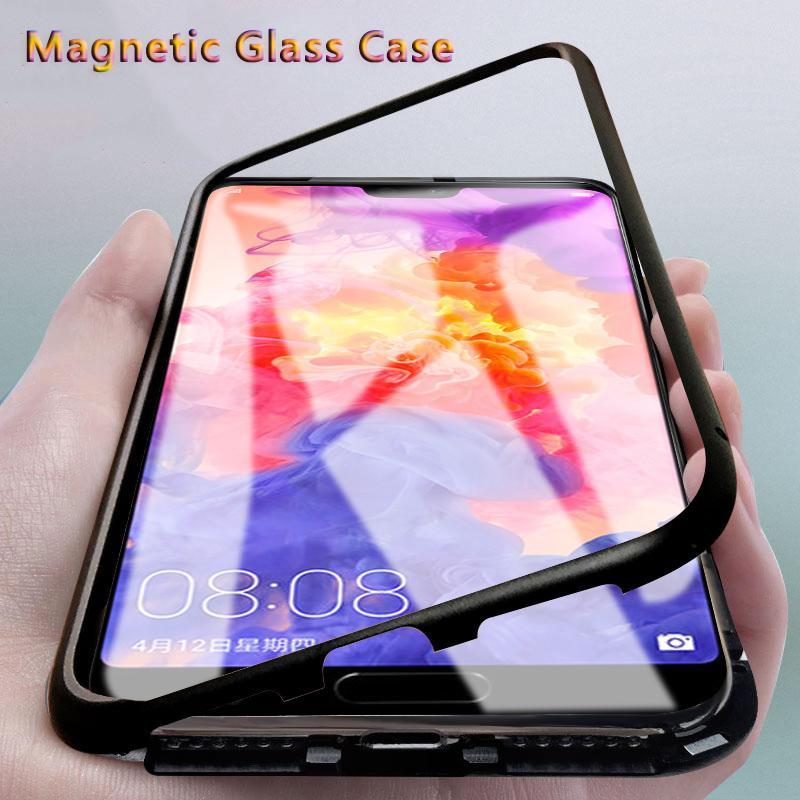 36c66f66f9f Fundas Para Movil Personalizadas Carcasa Magnética Para El Caso De Huawei  P20 Lite Para Huawei P20 Pro P 20 Plus Honor 10 Honor10 9H Cubierta De  Vidrio ...