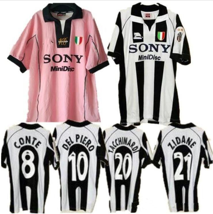 66aeecd2927 2019 97 98 Retro Soccer Jersey Inzaghi  10 Del Piero 1997 1998 Away Pink  Long Sleeve Italia Calcio MAGLIA Deschamps Zidane Davids Football Shirts  From ...